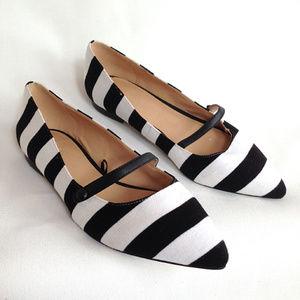 Joe Fresh flats Black & White stripe